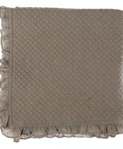 Trapuntino fondo letto cotone Blanc Mariclo 100x200 cm Giselle Collection Grigio/Tortora