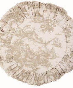 Cuscino tondo Blanc Mariclo Grimaldi Collection 50x50 cm