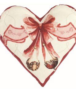 Cuscino cuore Blanc Mariclo Perle di Natale Collection 60x60 cm