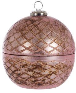 Contenitore con coperchio in vetro Blanc Mariclo Giudecca Collection Rosa antico H 15 cm