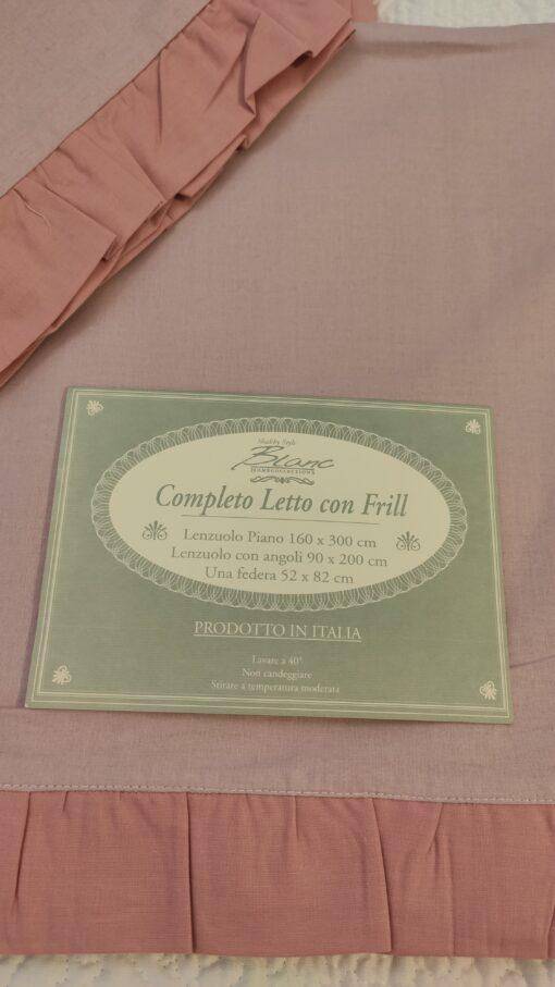 Completo letto 1 piazza Blanc Mariclo Frill Collection Rosa