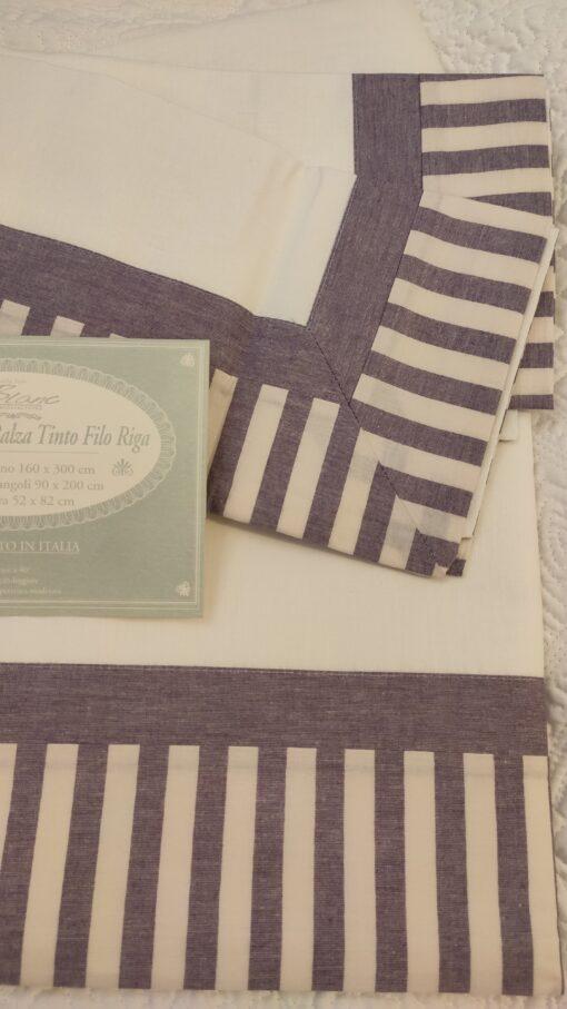 Completo letto 1 piazza Blanc Mariclo balza tinto filo Viola