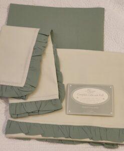 Completo letto 1 piazza Blanc Mariclo Frill Collection Verde