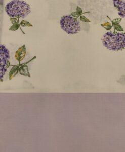 Completo letto floreale 1 piazza balza lilla con bottoni