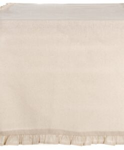 Runner naturale con galetta Blanc Mariclo 45x140 cm Infinity Collection