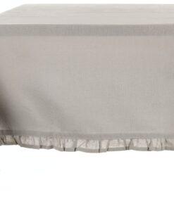 Tovaglia cerata Light Grey con galetta Blanc Mariclo 150×240 cm Infinity Collection