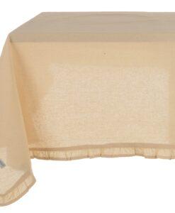 Tovaglia cerata Naturale con galetta Blanc Mariclo 150×240 cm Infinity Collection