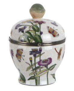 Vaso decorativo con coperchio Blanc Mariclo Kreisleriana Collection