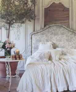 Boutis matrimoniale con gala e fiocchi Blanc Mariclo Rigoletto Collection Beige chiaro