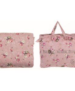 Boutis matrimoniale Blanc Mariclo Ophelia Collection Rosa