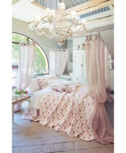 Boutis matrimoniale fiocchi rosa Blanc Mariclo Romanzo Collection