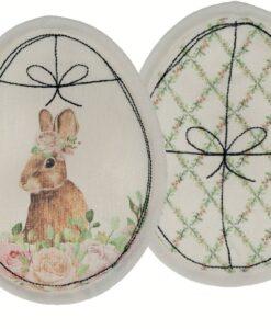 Set 2 Decorazione uovo Blanc Mariclo Romantic Easter Collection
