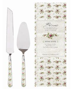Set 2 posate da dolce Blanc Mariclo Moss Rose Collection