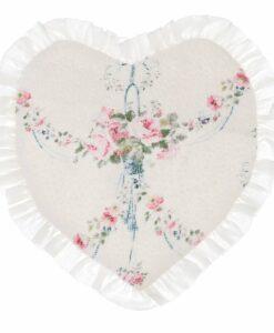 Tovaglietta a cuore Blanc Mariclo Manon Collection 30x30 cm