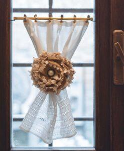Ferma tenda fiore con clip Blanc Mariclo