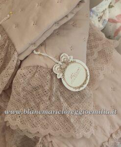 Boutis matrimoniale con gala in pizzo Blanc Mariclo La Cenerentola