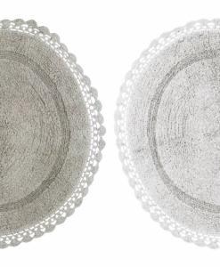 Tappeto tondo con crochet Blanc Mariclò
