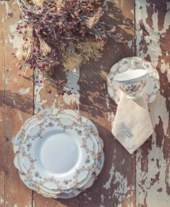 Servizio piatti 18 pezzi Blanc Mariclo Porto Venere Collection