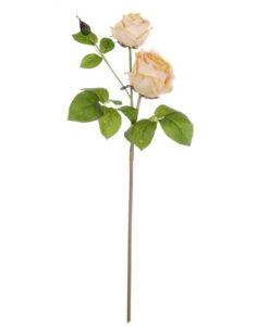 Rosa artificiale Blanc Mariclo Il roseto Collection Miele