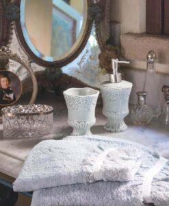 Set bagno 3 pezzi Blanc Mariclo Salle de Bain Collection Celeste polvere