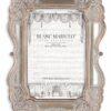Porta foto Blanc Mariclò Cavaliere della rosa Collection H 20 cm