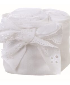 Cestino con 3 lavette Blanc Mariclo Gli innamorati Collection Bianco