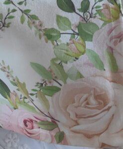 Copricuscino sedia con gala Blanc Mariclo Romantic Easter Collection