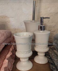 Set bagno 3 pezzi Blanc Mariclo Salle de Bain Collection Bianco