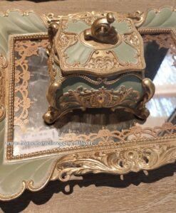 Vassoio con specchio Blanc Mariclò Cavaliere della rosa Collection L 41 cm