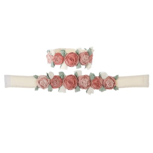 Embrasse tenda con rose Blanc Mariclo 60x5 cm
