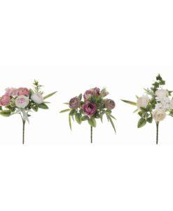 Bouquet peonie Blanc Mariclo