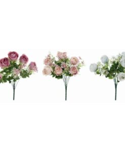 Bouquet rose Blanc Mariclo L 35 x P 35 x H 52
