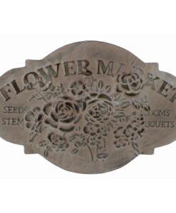 "Targa in metallo Blanc Mariclò ""flower market"" Irma Collection"