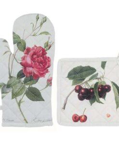 Set guanto e presina Blanc Mariclo Botanical Collection