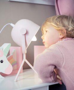 Lampada da tavolo Blanc Mariclò rosa A25743