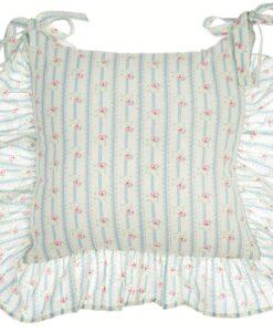 Copricuscino sedia con gala Blanc Mariclo Nora Collection Azzurro