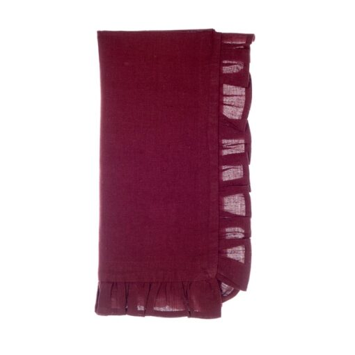 tovaglioli misto lino con gala Blanc Mariclo Frill Collection Bordeaux
