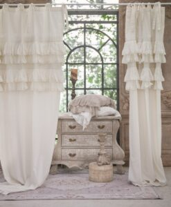 Tenda misto lino Blanc Mariclo Tiepolo Collection