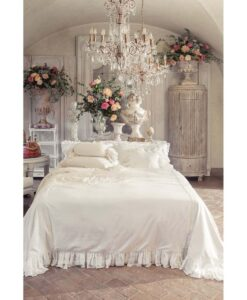 copripiumino matrimoniale misto lino Blanc Mariclo Tiepolo Collection Avorio