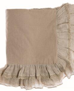 Set copripiumino matrimoniale misto lino Blanc Mariclo Tiepolo Collection Beige