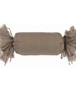 Cuscino caramella misto lino con gale Blanc Mariclo Tiepolo Collection