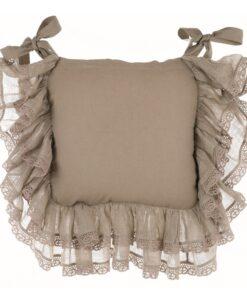 Copricuscino sedia misto lino con gale Blanc Mariclo Tiepolo Collection