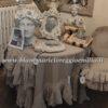 Copritavolo misto lino con gale Blanc Mariclo Tiepolo Collection