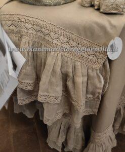 Runner misto lino con gale Blanc Mariclo Tiepolo Collection
