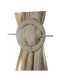Ferma tenda tondo con nappa Blanc Mariclo
