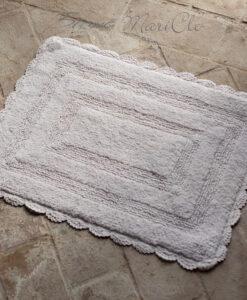Tappeto rettangolare Blanc Mariclò con crochet 50x70 cm Grigio