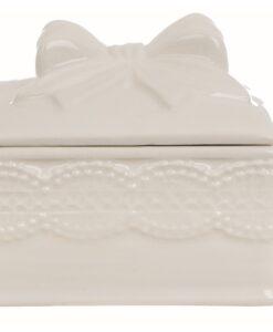 Cofanetto quadrato con coperchio Fiocco Blanc Mariclo Sentimento Collection