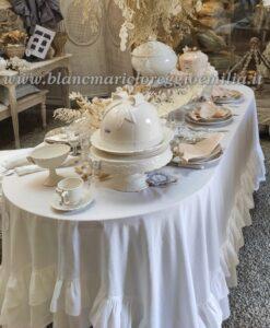 Tazza the con piattino Fiocco Blanc Mariclo Sentimento Collection