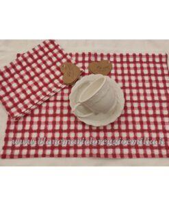 Set 2 Tovaglietta Blanc Mariclo 30x45 cm I Salici Collection Quadretti