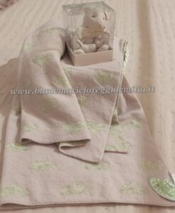 Coperta Baby Blanc Mariclo Heart Dots 70x100 cm Rosa